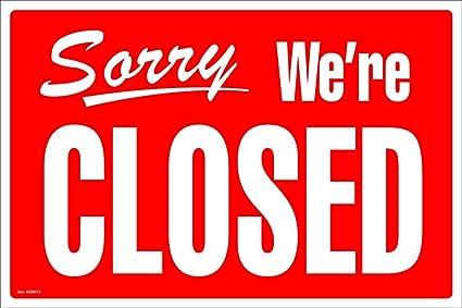 Amazon.com : Cosco Sign, Open/Closed, 8 x 12 Inches (098012 ...