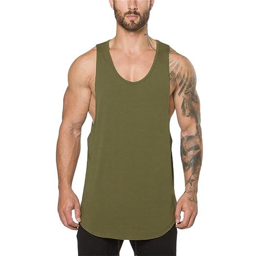571ae801d0af6b Amazon.com  kemilove Gyms Clothing Workout Singlet Bodybuilding Stringer Tank  top Men Fitness T Shirt Muscle Sleeveless Vest  Clothing