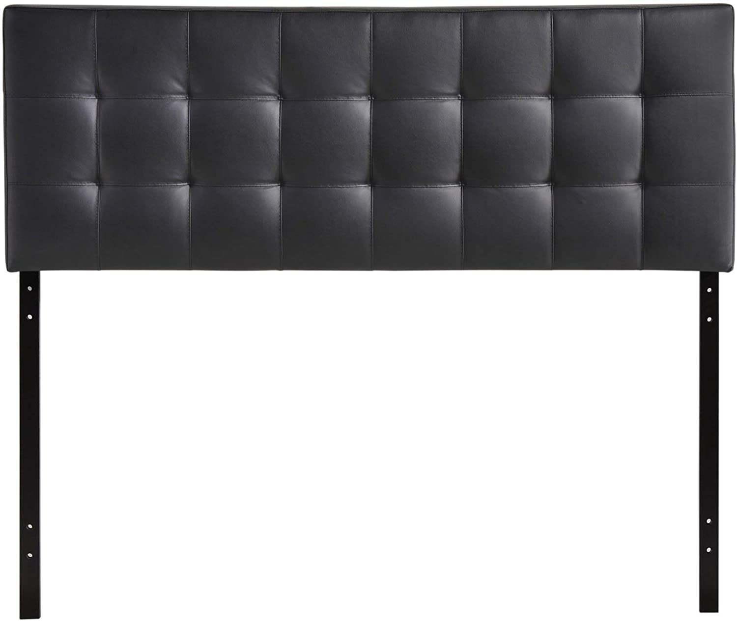 Modway Lily Tufted Faux Leather Upholstered Queen Headboard in Black Renewed
