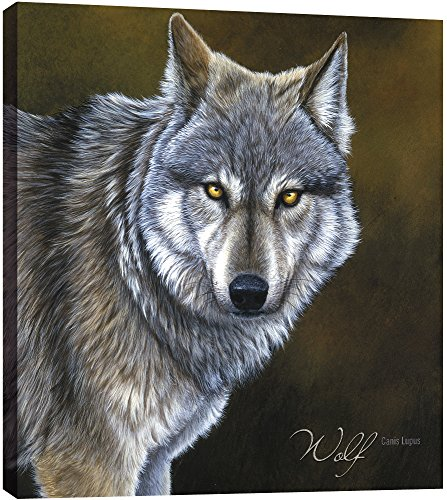 Tree-Free Greetings EcoArt Home Decor Wall Plaque, 11.25 x 11.25 Inches, Classic Wolf Themed Wildlife Art (85736)