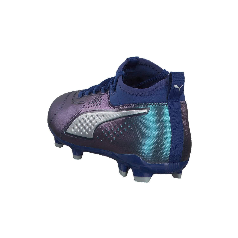 9aa1e0283 Botas de fútbol PUMA One 3 LTH FG Junior Color Azul-Plata (104779 03)   Amazon.es  Zapatos y complementos