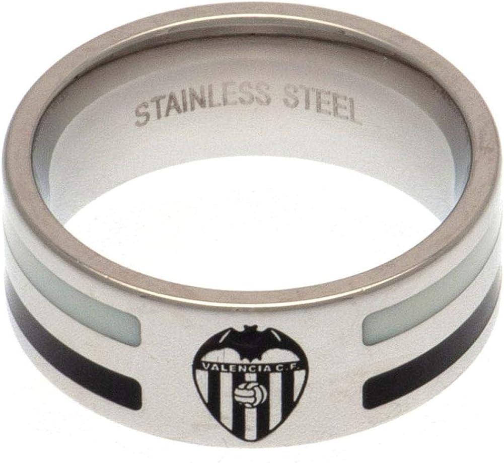 Valencia C.F. Colour Stripe Ring Medium M55RCLVALB: Amazon