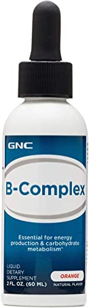 GNC B-Complex, Orange, 2 fl. oz., Energy Production and Carbohydrate Metabolism