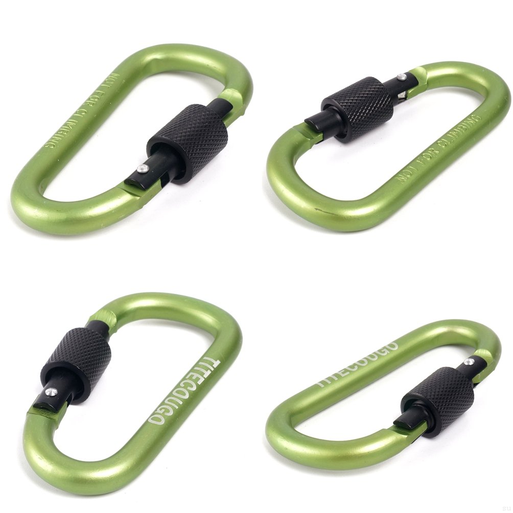 TITECOUGO Aluminum Alloy D-Ring High Strength Carabiner Key Chain Clip Hook For Camping Hiking Not for Climbing
