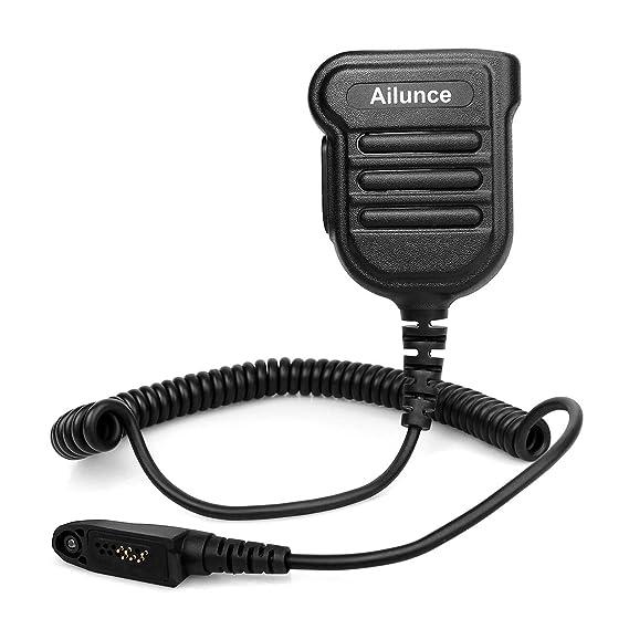 Ailunce HD1 Shoulder Speaker Mic Microphone IP55 Waterproof 3 5mm Audio  Jack Mic for Ailunce HD1 Retevis RT82 RT87 RT29 Walkie Talkie (1 Pack)