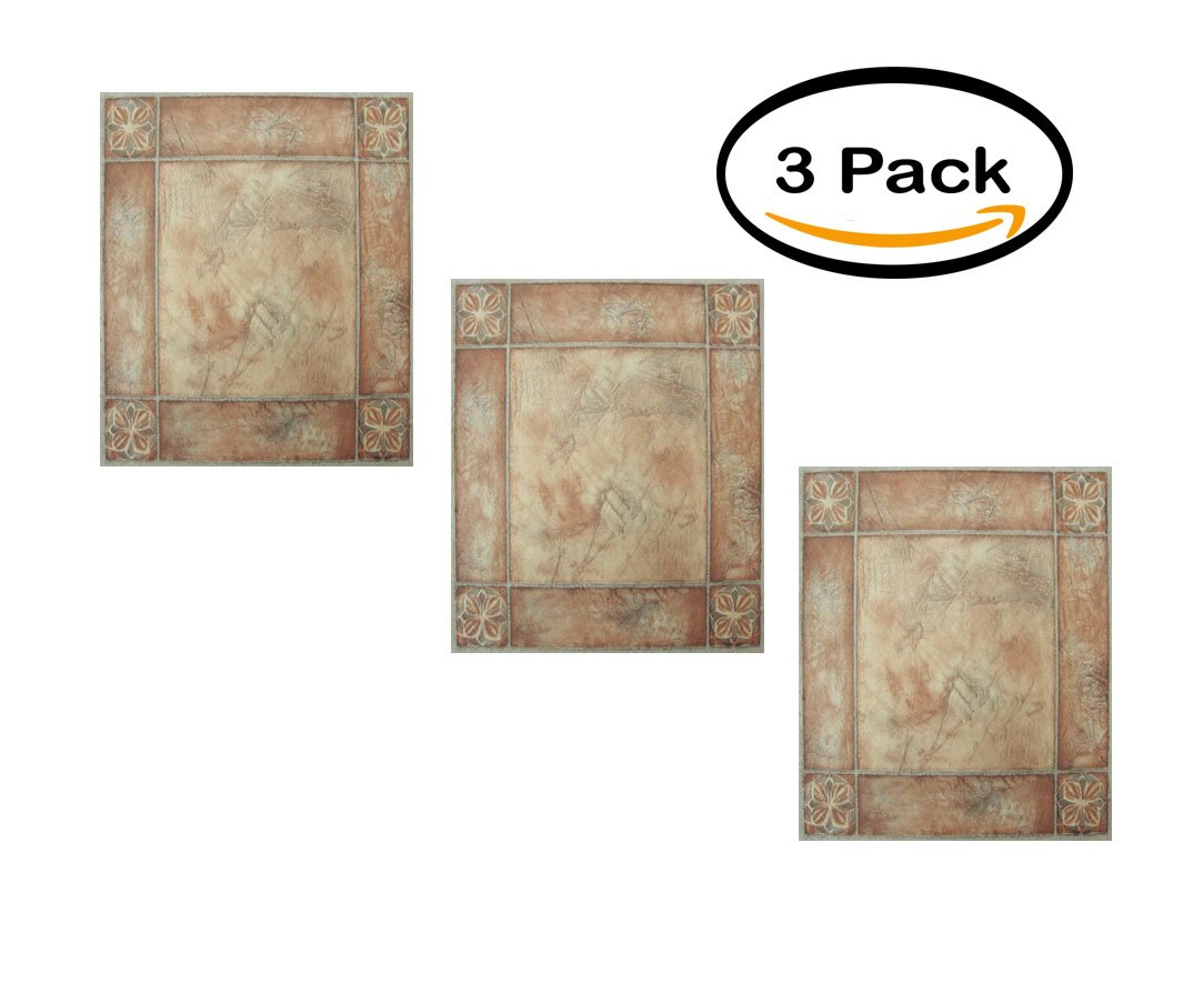 PACK OF 3 - NEXUS Spanish Rose 12x12 Self Adhesive Vinyl Floor Tile - 20 Tiles/20 Sq.Ft. by Achim