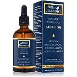 Puro aceite de argán 100% orgánico para pelo, piel, cuerpo y uñas - prensado en frío en Marruecos- hidratante anti envejecimiento/humectante antiarrugas (100ml)