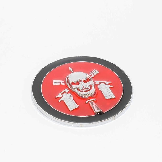 1 Piece Bope Brazil Pirate Chrome Red Black Metal Hq 3D Badge Car Trunk Side Door Fender Auto Emblem Logo Adhesive 5252CHRDBK SAISDON