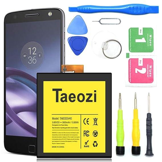 Motorola GV40 Battery, Taeozi 3600mAh Replacement Battery for Motorola Moto  Z Droid Force Battery XT1650-2 with Repair Replacement Kit Tools [18 Month