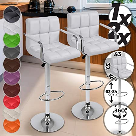Tabouret de bar de Bar Tabourets de bar bar 2er SET Tabouret Lounge Chaise Avec Accoudoir Design