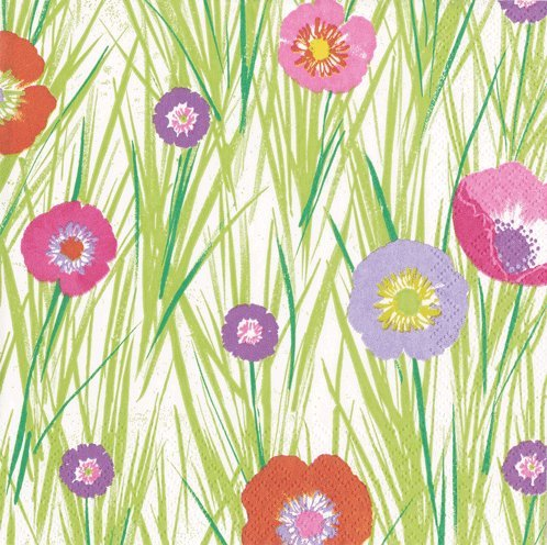 Easter Napkins Lunch Luncheon Paper Napkins Easter Egg Hunt Floral Grass Pk 40 ()