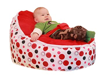 Superb Snuggleroo Baby Bean Bag Chair Filled And Waterproof Red Polka Dots Gmtry Best Dining Table And Chair Ideas Images Gmtryco