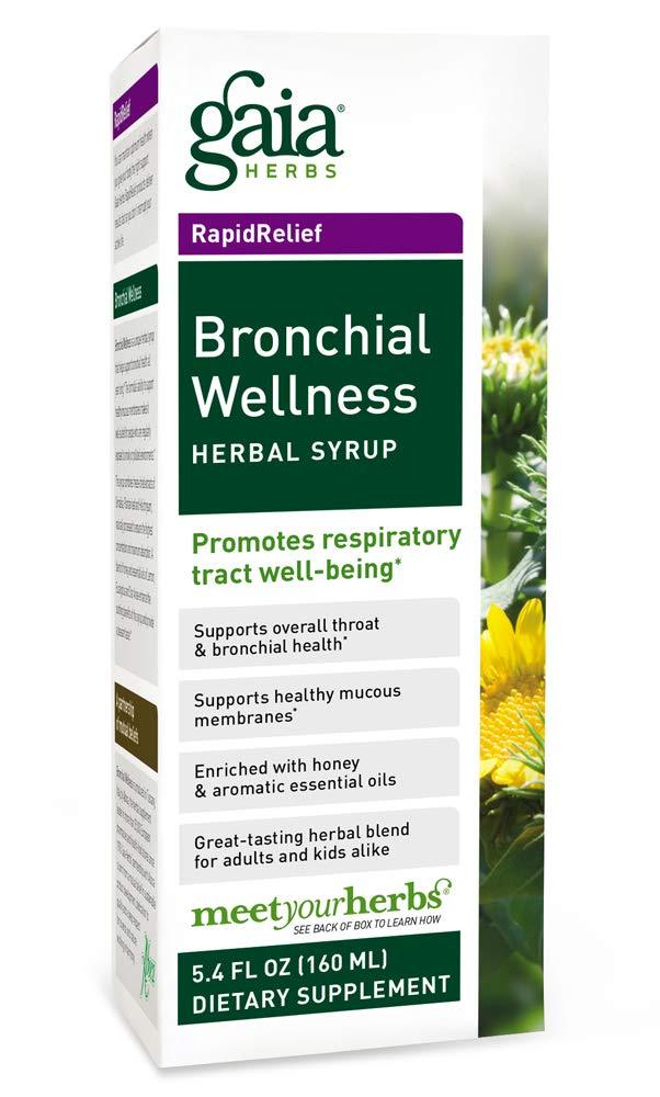 Gaia Herbs Bronchial Wellness Herbal Syrup, 5.4-Ounce Bottle