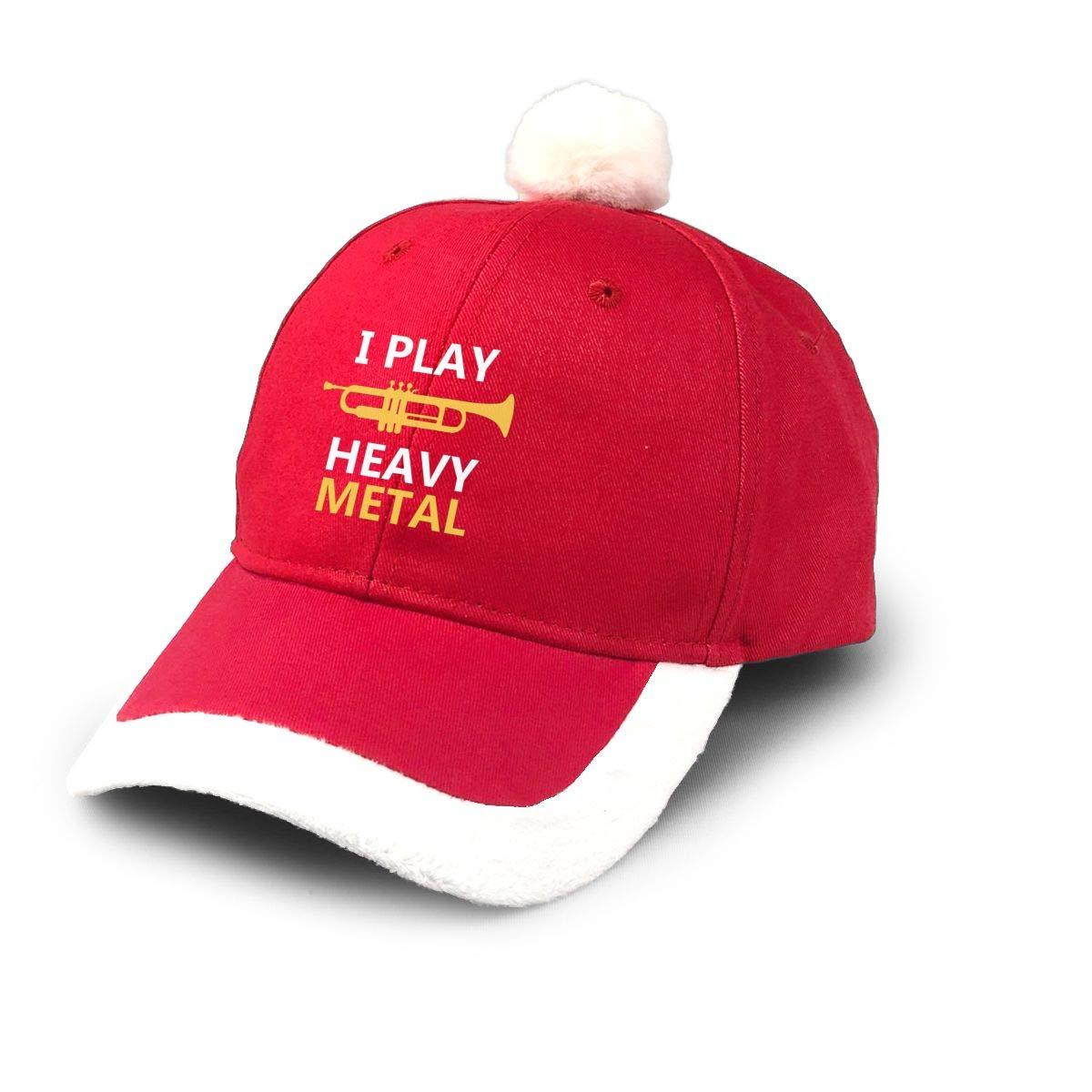 UKFaaa Gorra de béisbol de Papá Noel, I Play Heavy Metal Gorra de ...