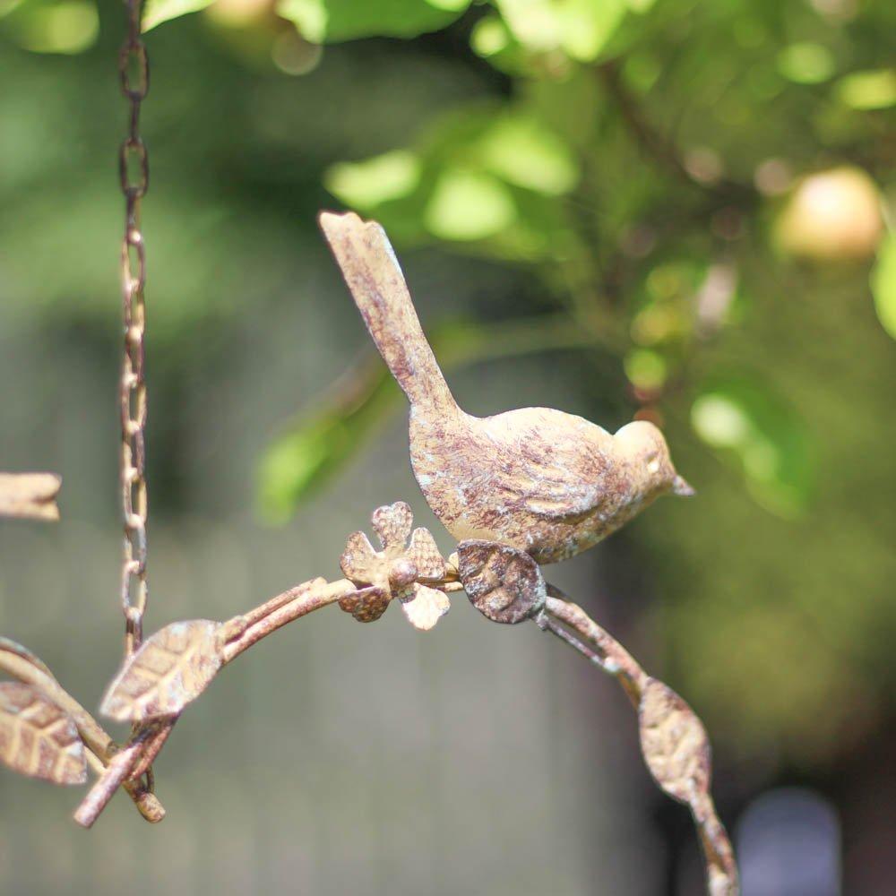 Gepudertes Messing Metall H/ängendes Herz Formte Wilden Gartenvogel Futterstationen