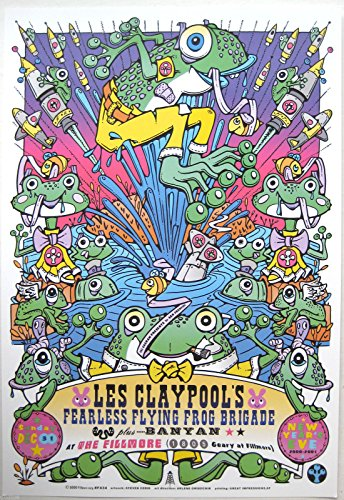 LES CLAYPOOL'S FLYING FROG BRIGADE 2000 NYE Poster, Steven Cerio, Fillmore F434