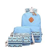 YiLianDa Conjunto de 3 Lindo Las Mochilas bolsas Escolares/Mochila Adolescentes/Mini Bolso/