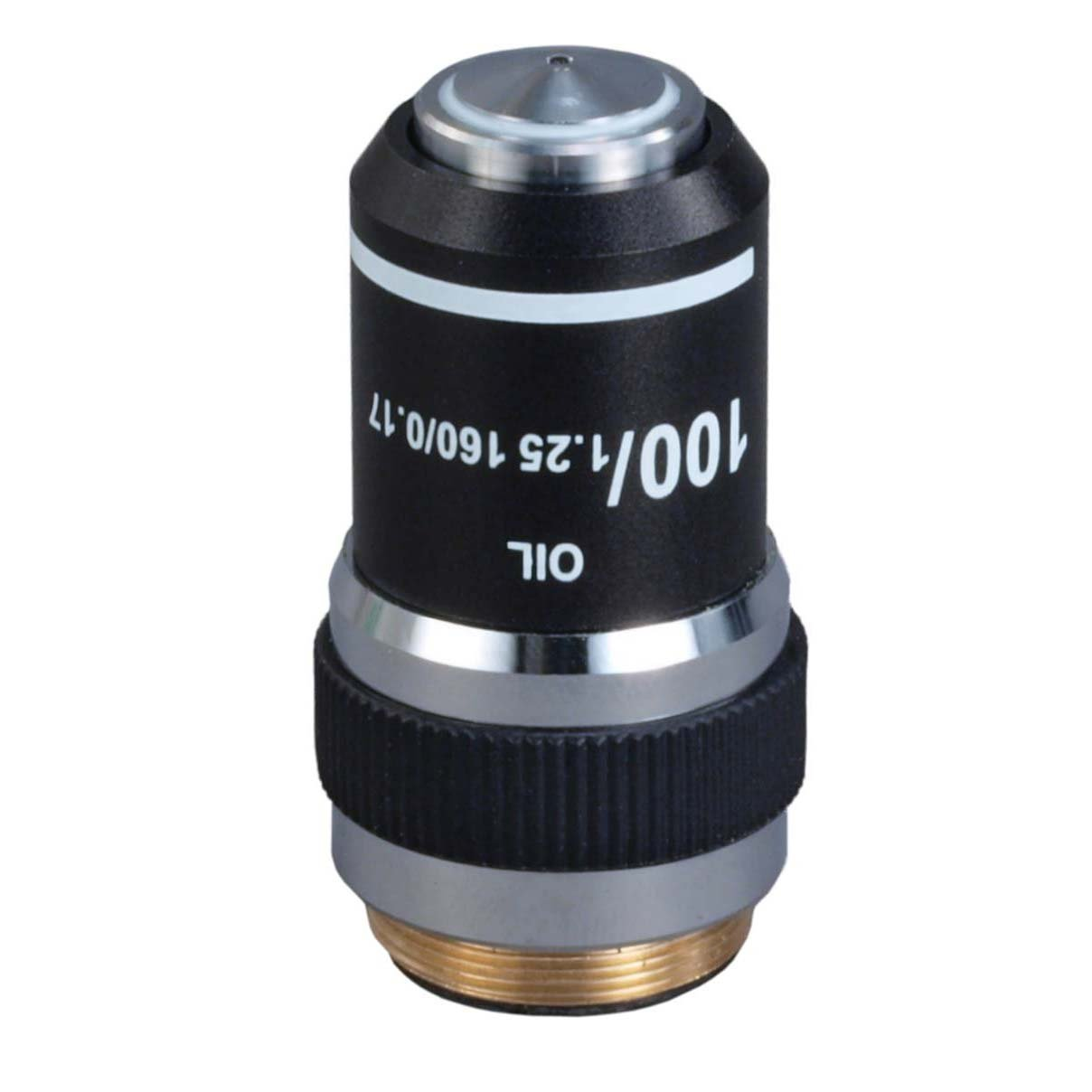 OMAX 100X (Oil, Spring) Achromatic Compound Microscope Objective Lens by OMAX
