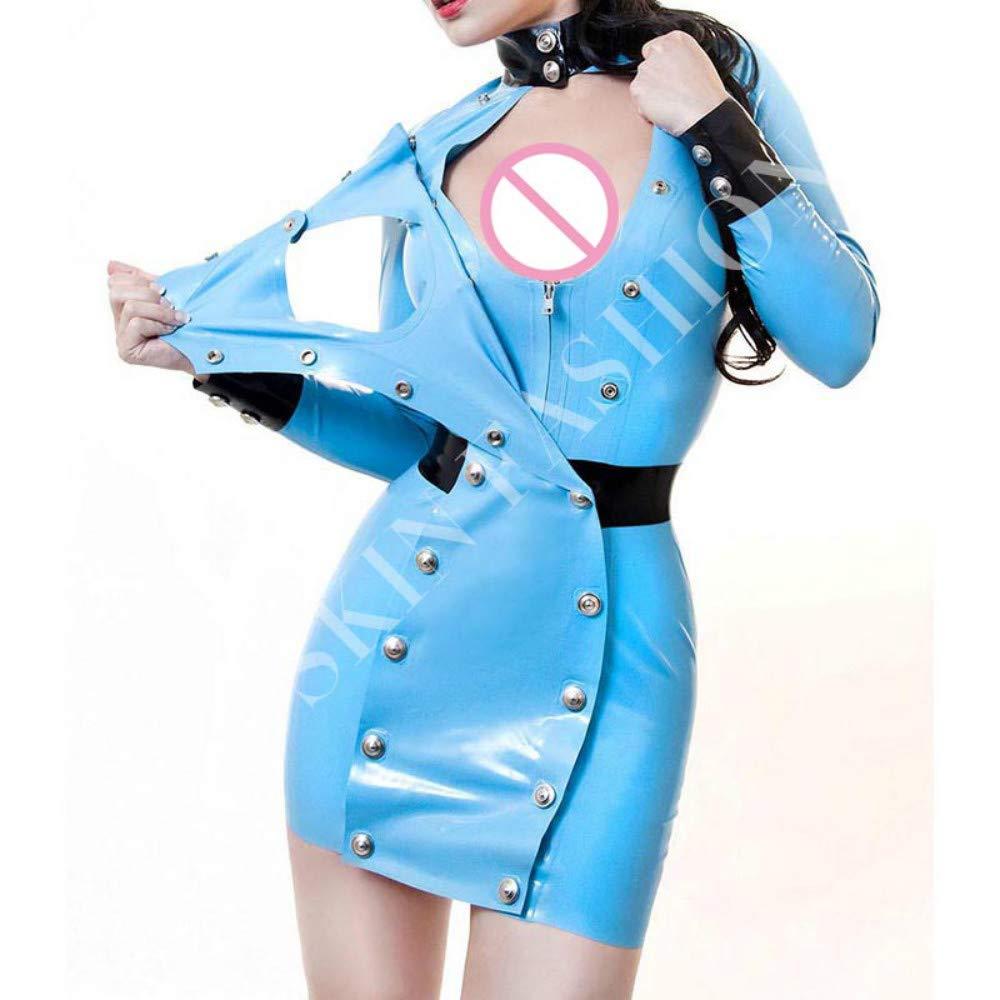 Vestido 100% látex para mujer, uniforme de látex, falda sexy ...