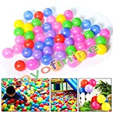 toyofmine 50/100/200/300/400/500/600/700/800/1000pcs Colorful Ball Ocean Balls Soft Plastic Ocean Ball Baby Kid Swim Pit Toy Ship from USA