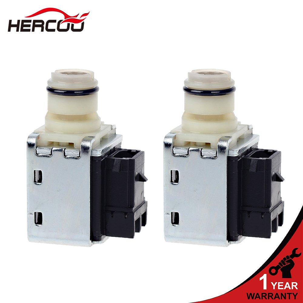 HERCOO 4L60E 4L65E 4L70E Transmission Shift Solenoid Kit Valve Set 1-2 2-3 A&B Compatible with GMC Chevrolet Trucks 1993-UP