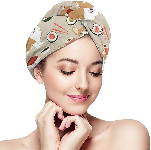 Funny Club Hair Drying Towel Hi Hi Hi Wraps For Women Shower Turban Microfiber Quick Magic Drying Wrapped Bath Cap