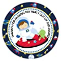 Outer Space Astronaut Thank You Stickers for Boy - Set of 30
