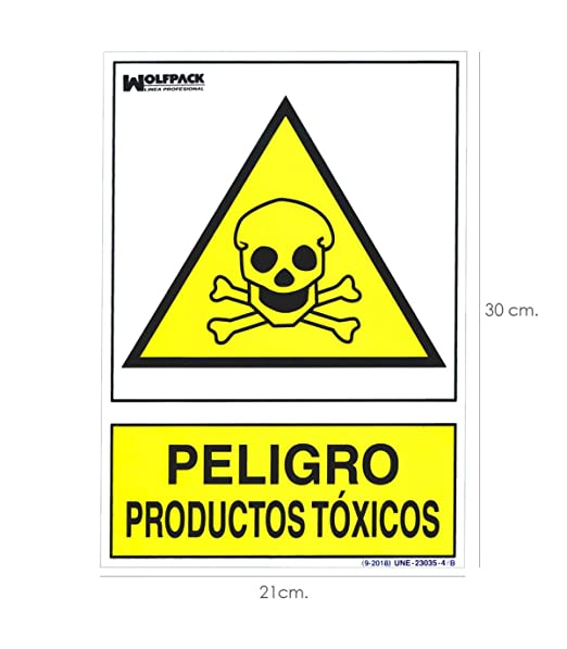 Wolfpack 15050956 Cartel Peligro Productos Toxicos 30x21cm.
