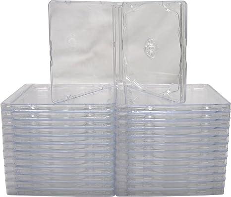Amazon.com: (25) Assembled estándar transparente Cajas de CD ...