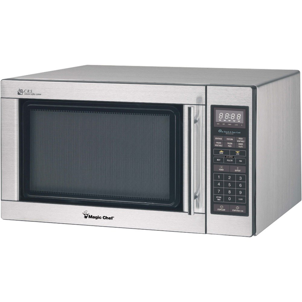 MAGIC CHEF MCD1611ST 1.6 Cubic-ft 1,100-Watt Microwave with Digital Touch (Stainless Steel) electronic consumer