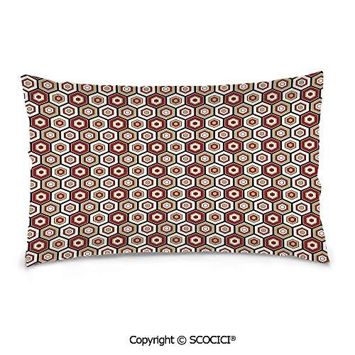 SCOCICI Durable Soft Cotton Rectangle Pillow Covers,20