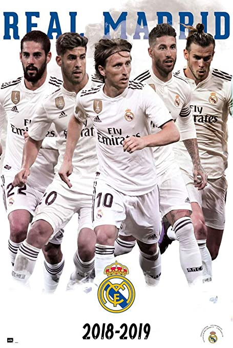 Real Madrid Soccer Poster The Star Players Season 2018 2019 Size 24 X 36