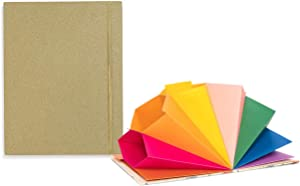 ban.do Get It Together Hardcover Expanding File Folder, Colorful Document Organizer with 9 Tabbed Sections and Label Stickers, Gold Glitter with Rainbow Interior