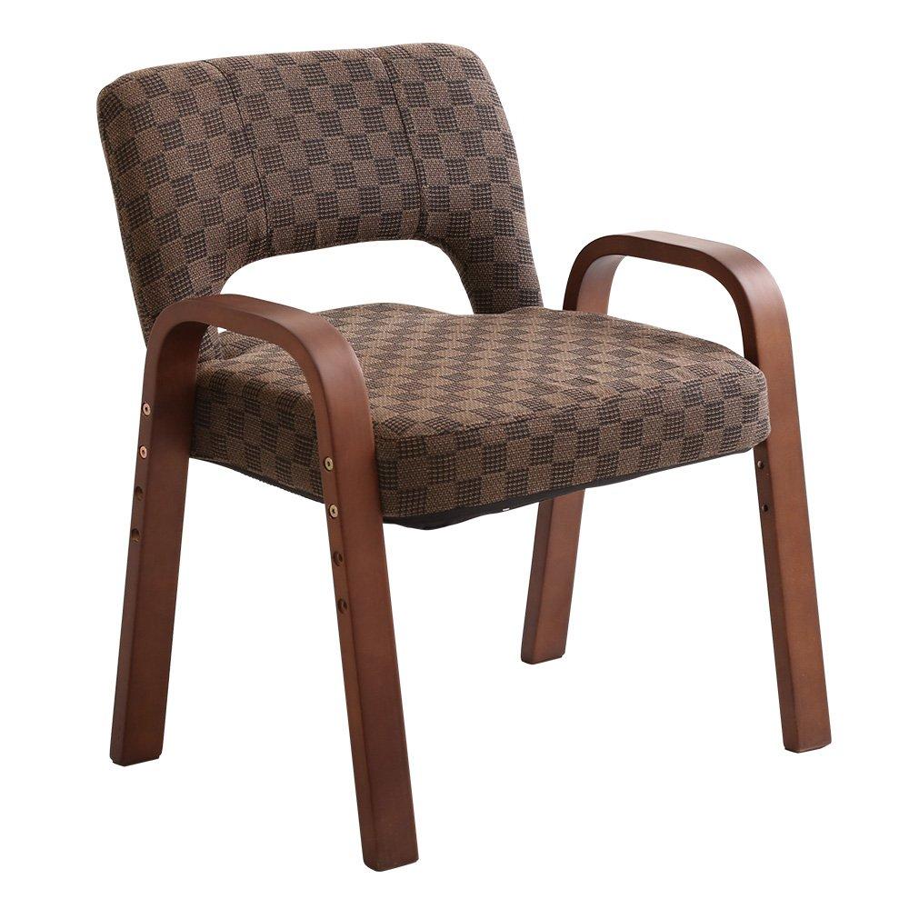 肘掛け高座椅子 栗色(6段階のリクライニング3段階の高さ調節)ダイニングコタツ椅子でこたつハイタイプこたつ B077P1M56S 高座椅子 単品|栗色 栗色 高座椅子 単品