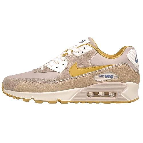NIKEAT4968 200 Nike Air MAX 90 para Mujer, Dorado (Wheat