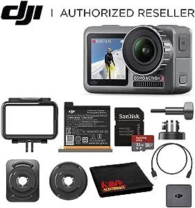 DJI Osmo Action 4K HDR Waterproof Camera Beginners Bundle - with Free SanDisk Ultra 32GB microSDHC
