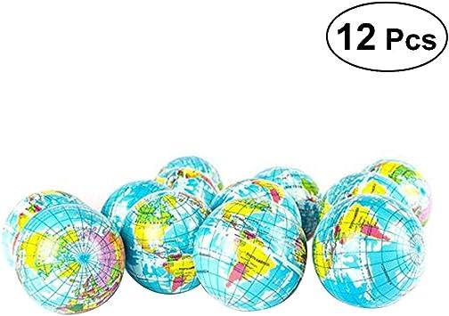 TOYMYTOY 12 Unids 6.3 CM Pelota de Juguete Globe Globe World Map ...