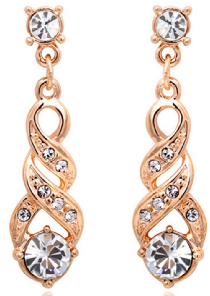 SaySure - 18K Rose Gold Plated Jewelry Austrian Crystal