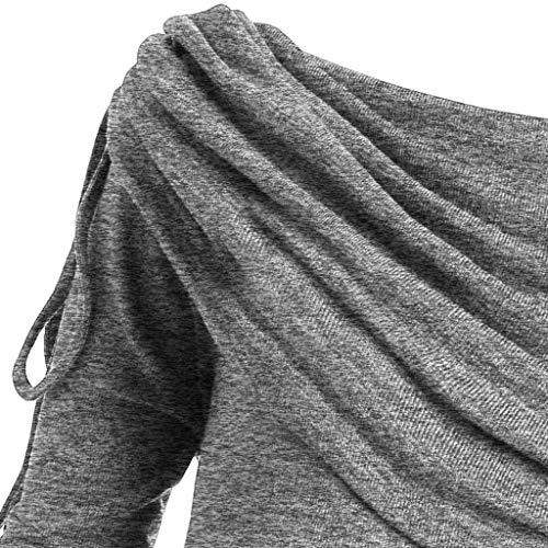Camisas Gris women Giulogre Mujer Para Tops xExOqZ81