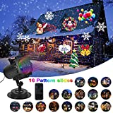 Comkes Christmas Laser Light Projector,16 Slides Bright Led Landscape Lamp Red&Blue Laser, Indoor and Outdoor Holiday Projector Waterproof Decoration light for Christmas and Holidays