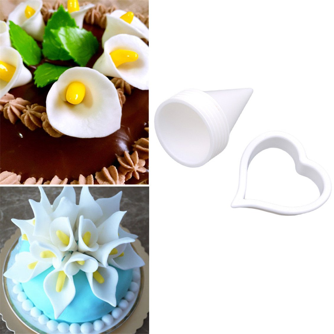Amazon Dolland 7pcs Calla Lily Former Set Icing Cake