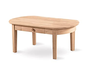 International Concepts Ot 5c Phillips Oval Coffee Table Unfinished