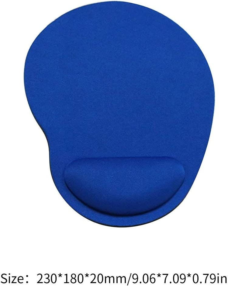 Blue EVA Mouse Pad with Wrist Rest for Computer Laptop Keyboard Mouse Mat with Hand Rest Mice Pad Gaming with Wrist Support