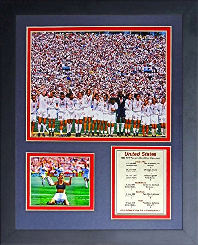 1999 WOMEN'S WORLD FIFA CUP TEAM USA CHAMPIONS FRAMED 8X10 PHOTO Brandi Chastain