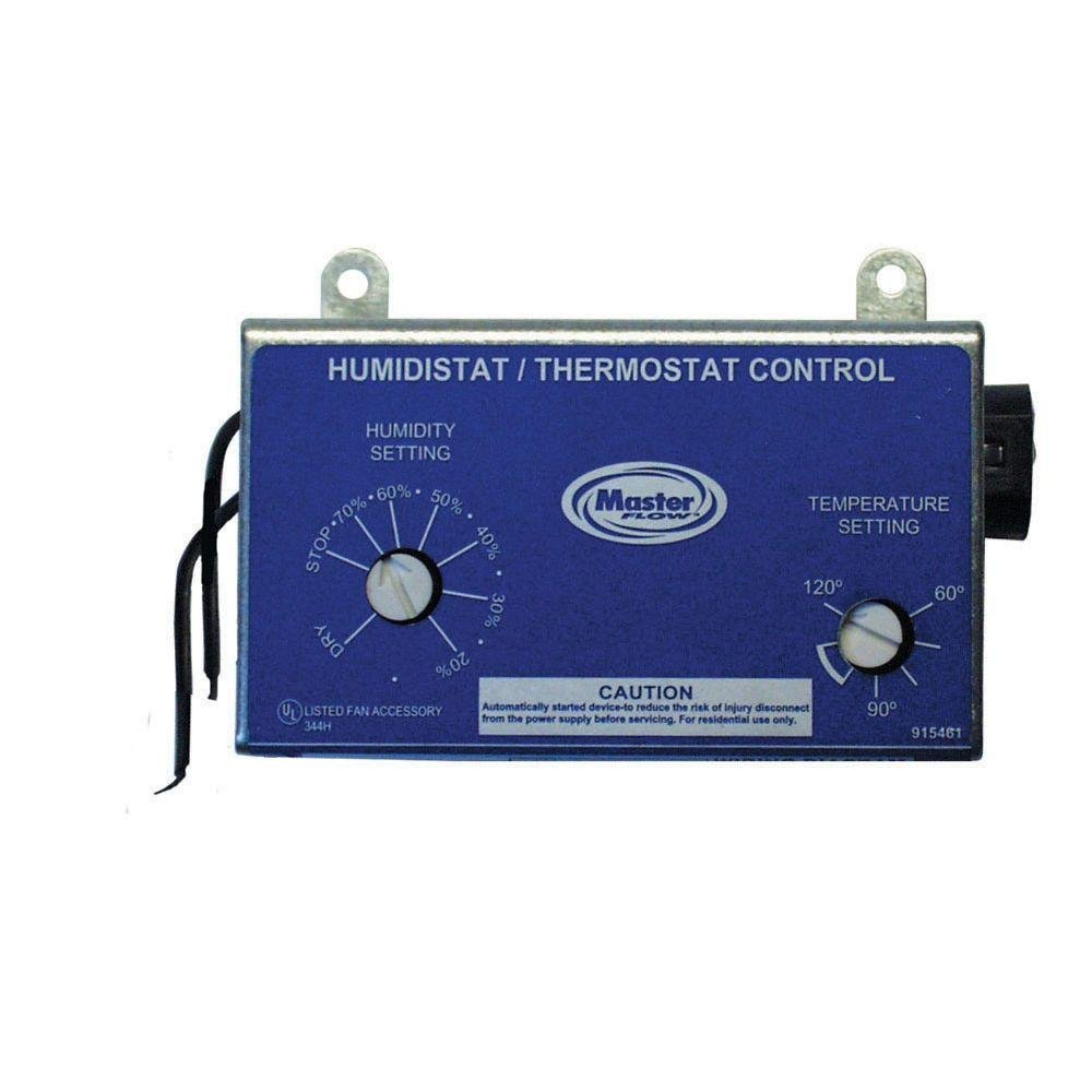 Master Flow Adjustable Humidistat/Thermostat Combo for PG/PR Series Vents