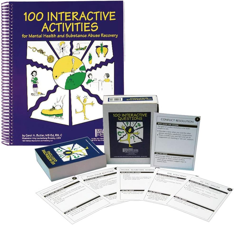 Wellness Reproductions & Publishing 100 Interactive Activities for Health and Substance Abuse Recovery Set