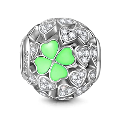 NINAQUEEN - Love and Clover - 925 Sterling Silver Charms Nickel-free ML65Y