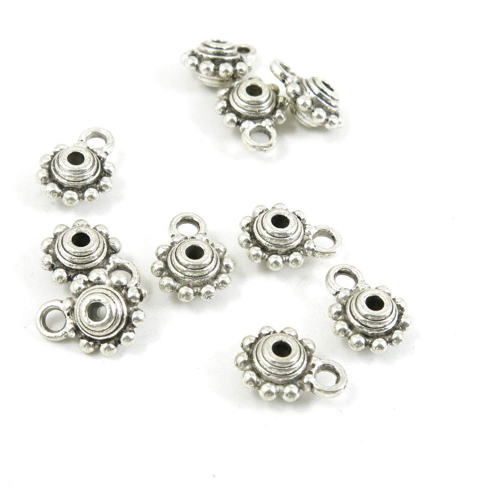 760 pcs Antique Silver Plated Jewelry Charms Findings Craft Making Vintage Beading S1KT4J Bails Cord Ends