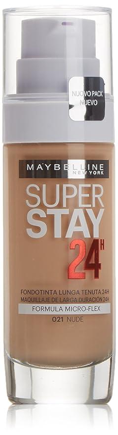 72d20b780 Maybelline New York SuperStay 24H Base de Maquillaje, Tono: nº21 Nude