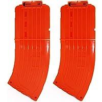 EKIND 10 Darts Clips Soft Bullet Quick Reload Clips Compatible for Nerf Elite Magazine Toy Gun (Orange, 2Pcs)